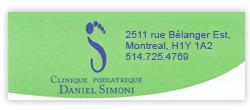 Clinique podiatrique Daniel Simoni (http://www.2pieds9.com/)