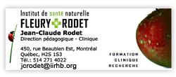 Institut de santé naturelle Fleury Rodet (http://www.iirhb.org/)